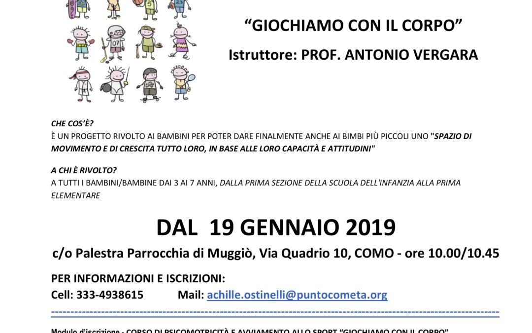 CORSO DI PSICOMOTRICITÀ E AVVIAMENTO ALLO SPORT PER BAMBINI DELLA SCUOLA DELL'INFANZIA