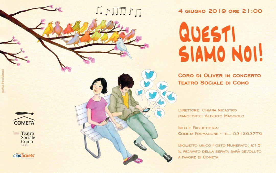 Il Coro di Oliver si esibisce al Teatro Sociale