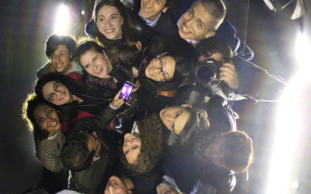 La classe terza Liceo Artigianale al Festival della Luce