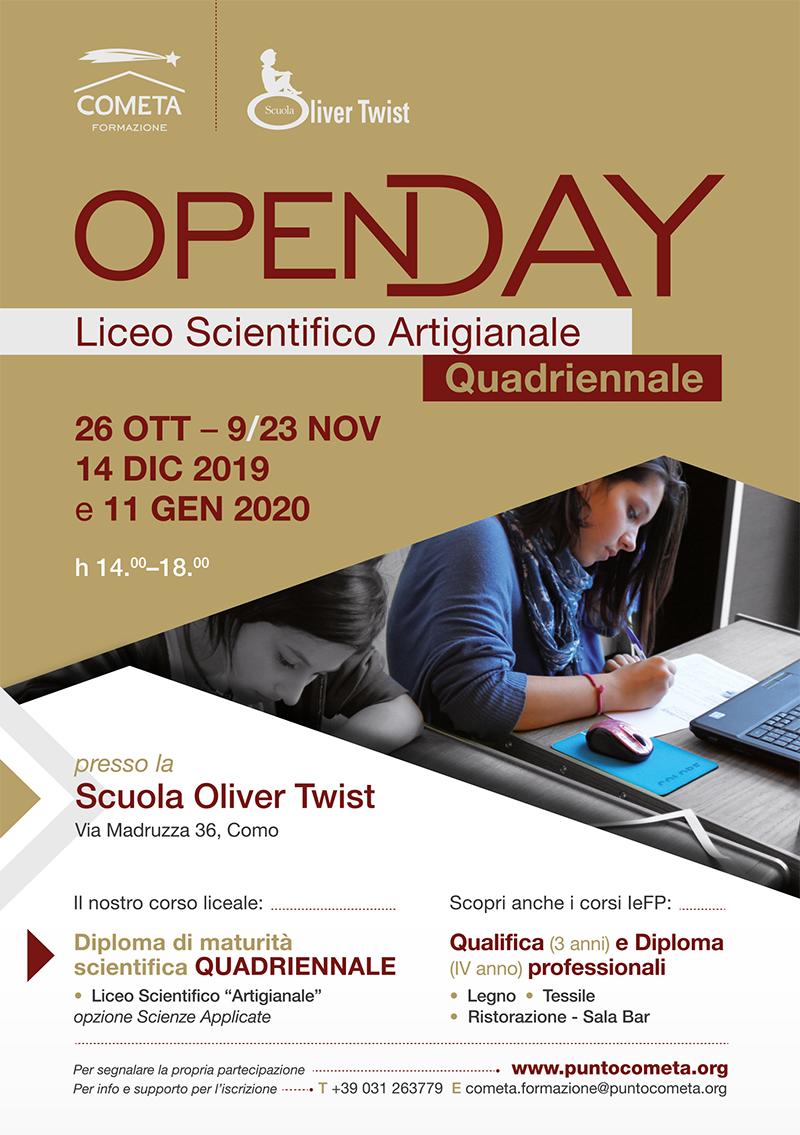 OPEN DAY LICEO ARTIGIANALE 2019