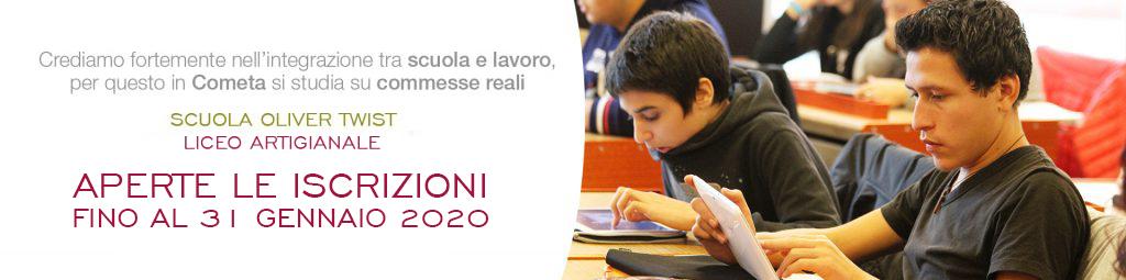 Aperte le iscrizioni a Cometa Formazione - Scuola Oliver Twist per A.S. 2020-2021 1