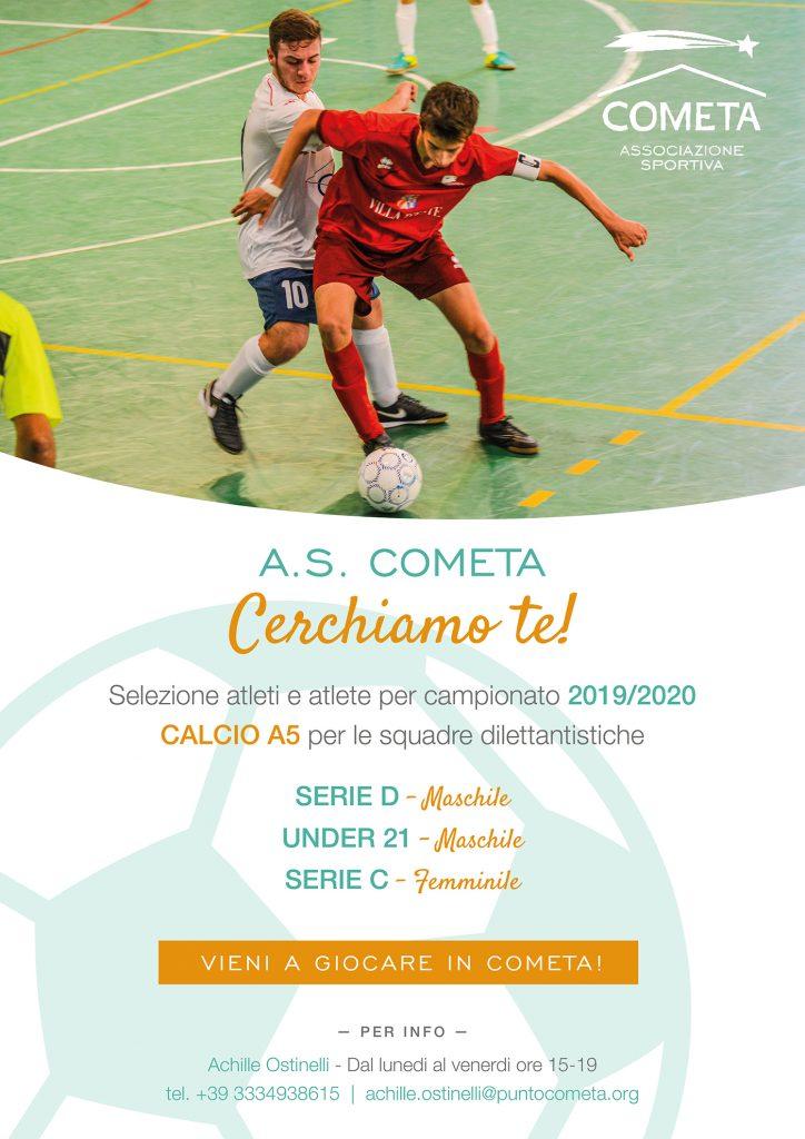Cerchiamo te! Selezione atleti A.S. Cometa - 2020/2021 1