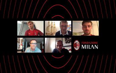 Fondazione Milan in the community: Biglia e Gabbia, calciatori di A.C. Milan, a confronto con 200 studenti di Cometa